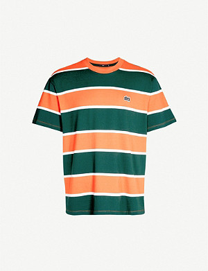 OBEY Striped cotton-jersey T-shirt