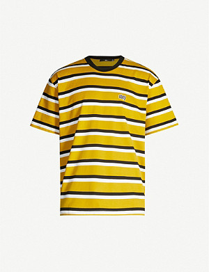 OBEY Jeff striped cotton-jersey T-shirt