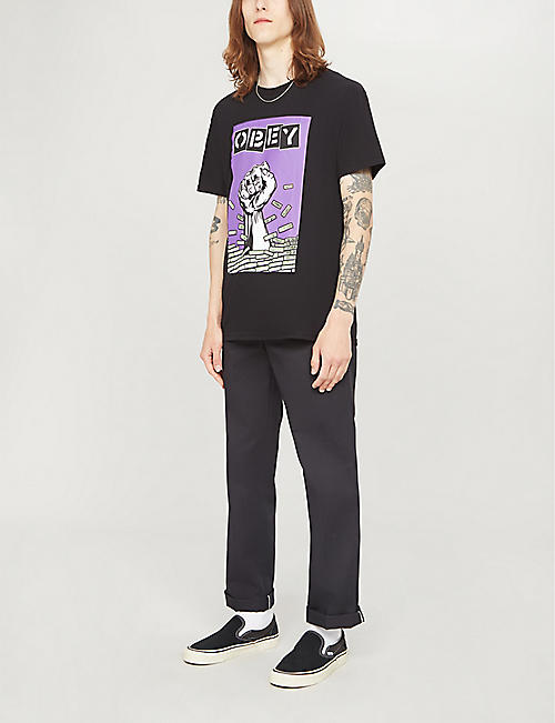 OBEY Bust Out cotton-jersey T-shirt