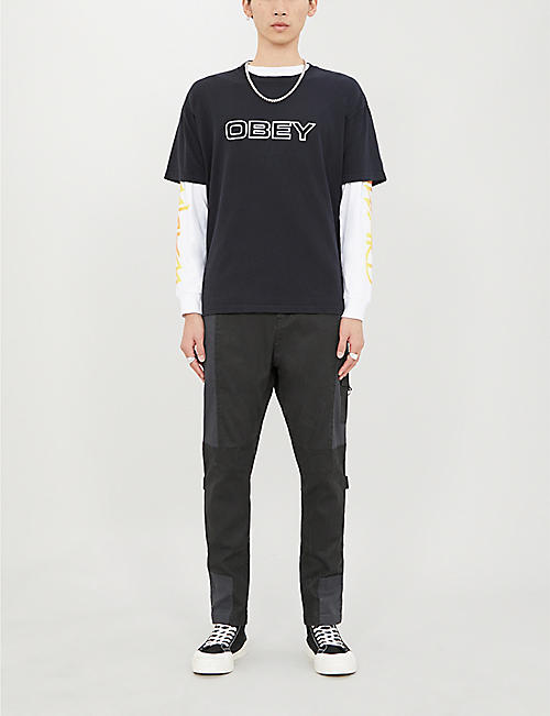 OBEY Ceremony logo-print cotton-jersey T-shirt