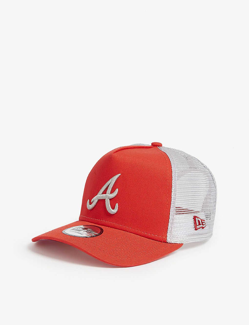 newest 7fd1a 79136 ... Atlanta Braves mesh snapback cap - Hot red grey ...