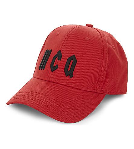 d3f2220829d Mcq By Alexander Mcqueen Logo Cotton Baseball Cap In Red Black ...