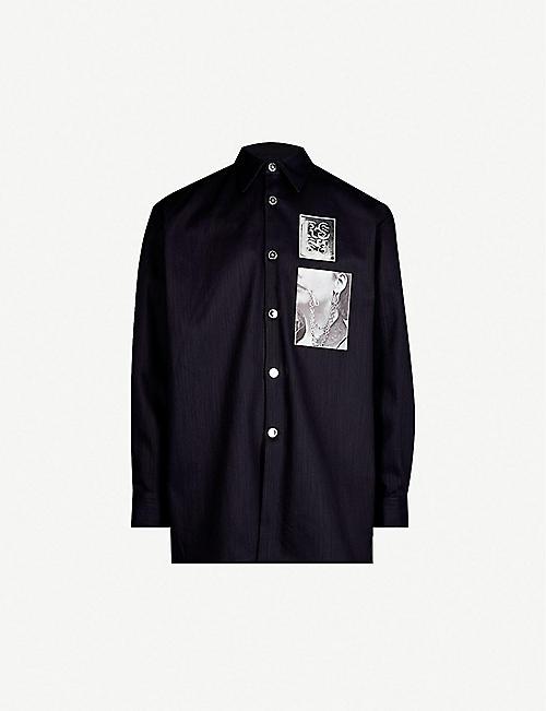 cc73d0d7826 RAF SIMONS Oversized denim shirt