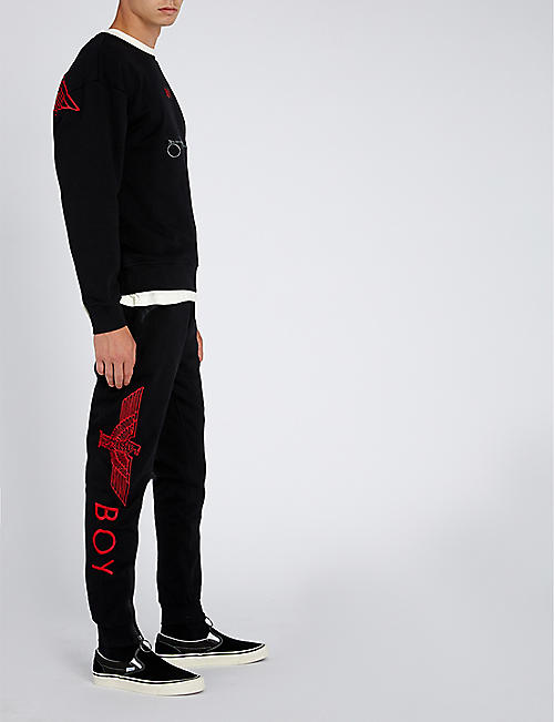 BOY LONDON Logo cotton-jersey jogging bottoms