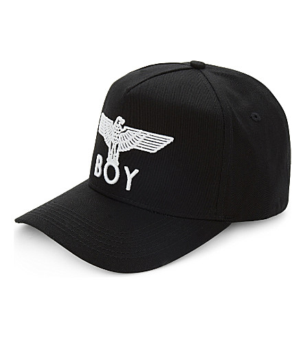 Boy London Eagle Cotton Snapback Cap In Black  a73cff08a660