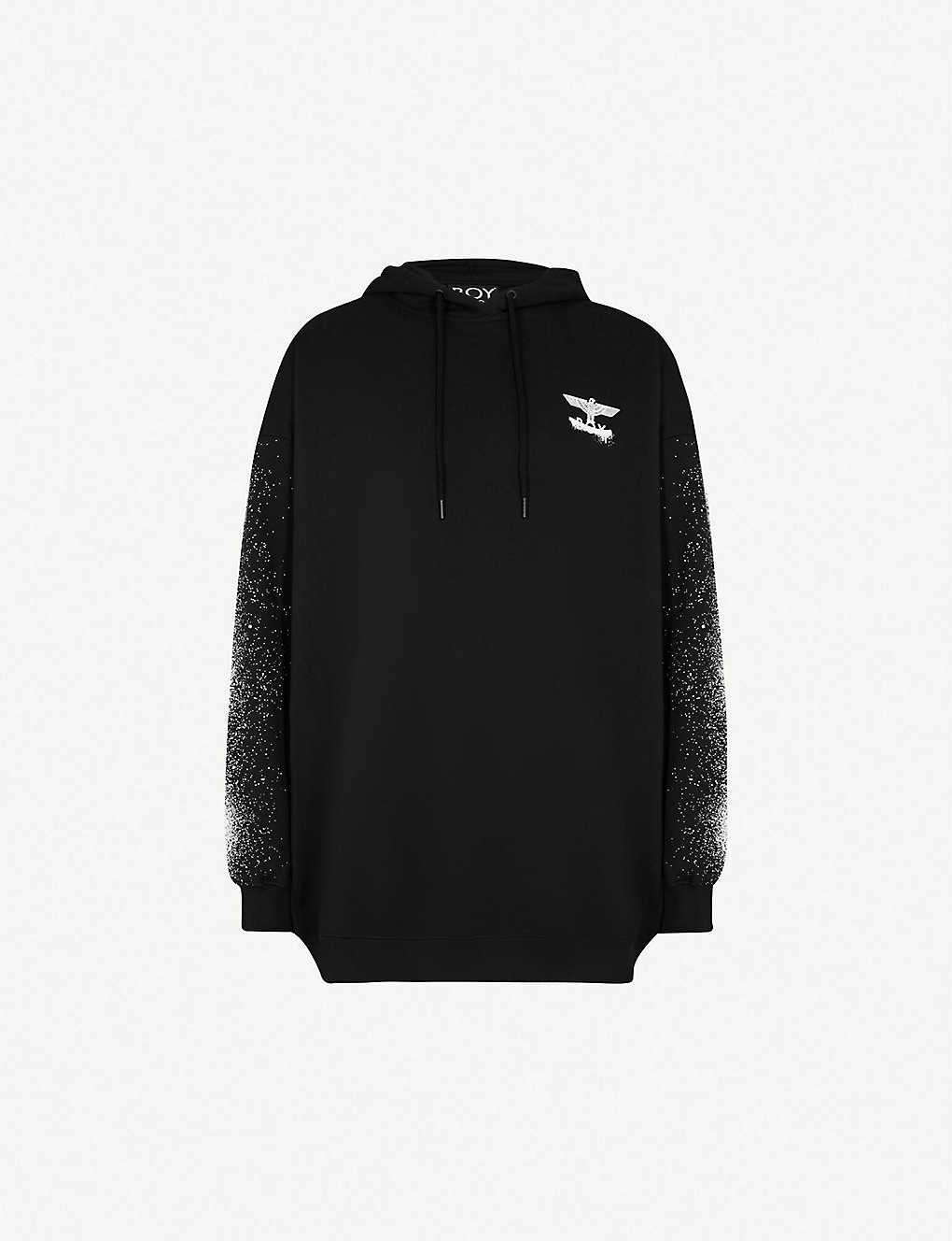 91e31bae059a BOY LONDON - Fake cotton-jersey hoody