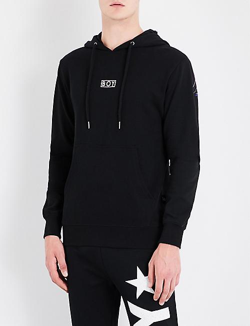 7efe62ff1589 BOY LONDON Eagle-print cotton-jersey hoody