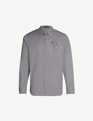 UNDERCOVER Bloody Geekers-embroidered regular-fit cotton-poplin shirt
