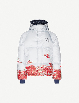 UNDERCOVER Graphic-print shell-down puffer jacket