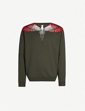 MARCELO BURLON Wing-printed cotton-jersey sweatshirt