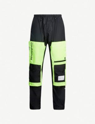 MARCELO BURLON Patch-pocket shell jogging bottoms