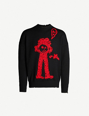 MARCELO BURLON Kid Sketch wool jumper