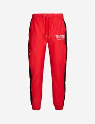 TRAPSTAR Decoded logo-print shell jogging bottoms