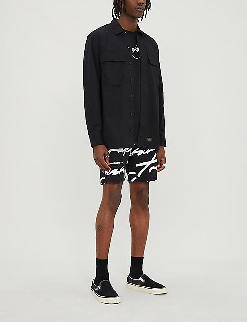 TRAPSTAR Logo-print stretch-cotton shorts