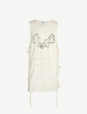 746c62ce8bcc50 AMBUSH - Fin logo-print cotton-jersey T-shirt