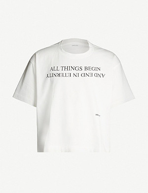 AMBUSH Slogan-print cotton-jersey T-shirt