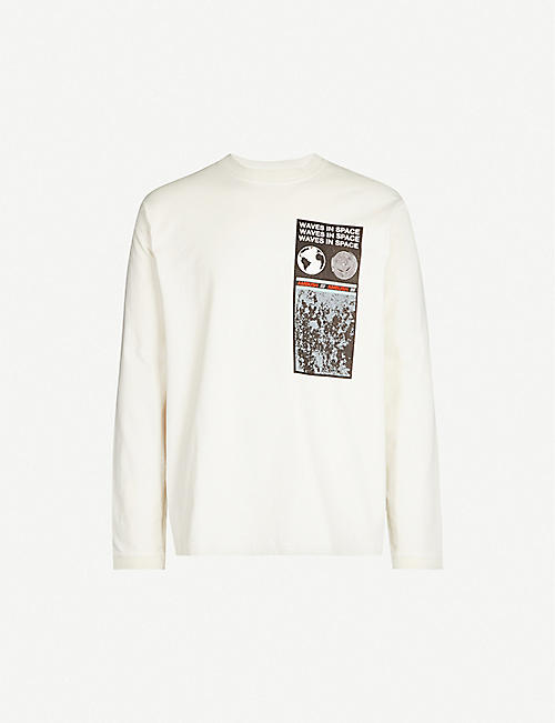 AMBUSH Graphic-print cotton-jersey top
