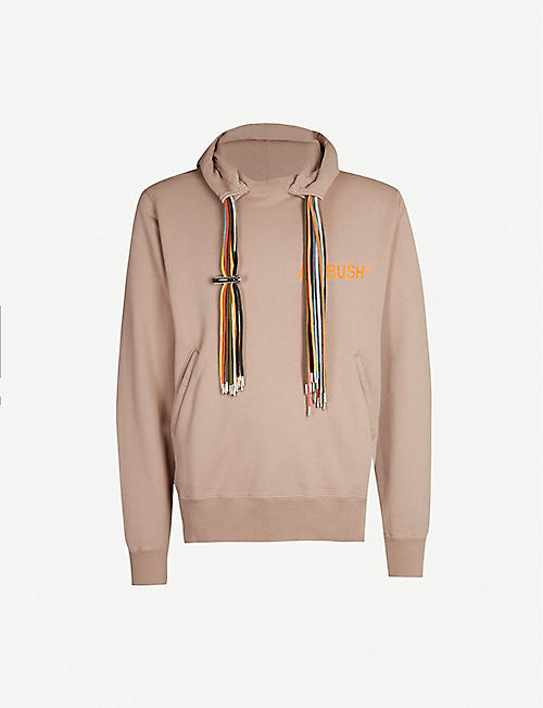 AMBUSH Drawstring-trimmed cotton-jersey hoody