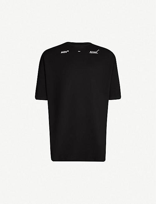 6e86e4273 ADER ERROR Logo-print oversized cotton-jersey T-shirt