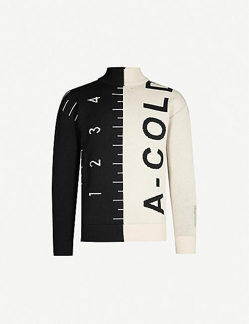 A-COLD-WALL Logo-embroidered wool jumper