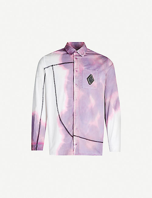 A-COLD-WALL Abstract-pattern slim-fit cotton shirt