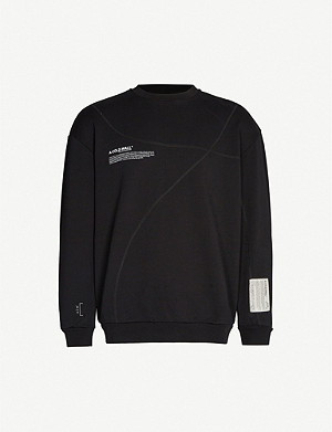 A-COLD-WALL Overlock logo-print cotton-jersey sweatshirt