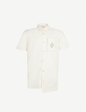 A-COLD-WALL Brand-plaque cotton-twill shirt