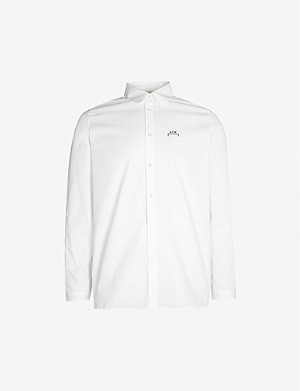A-COLD-WALL Core brand-print slim-fit cotton shirt