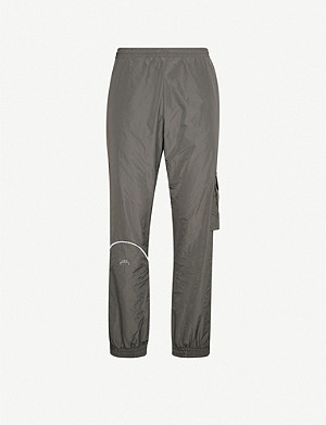 A-COLD-WALL Logo-print shell jogging bottoms