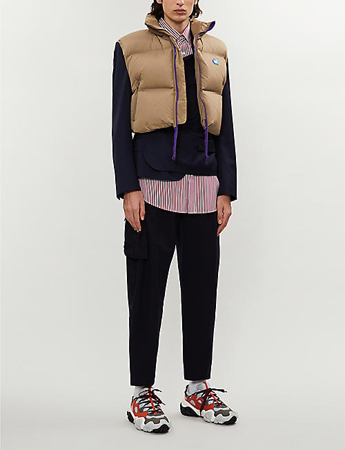 ADER ERROR Cropped padded shell-down gilet