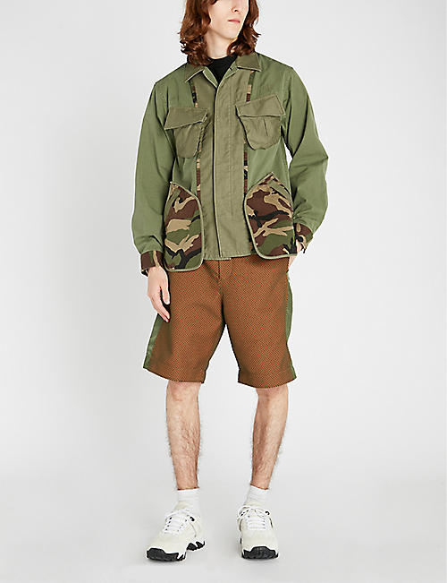 FACETASM Camouflage-print cotton-twill jacket