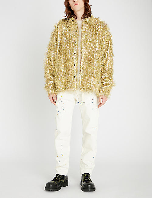 FACETASM Metallic tinsel brocade jacket