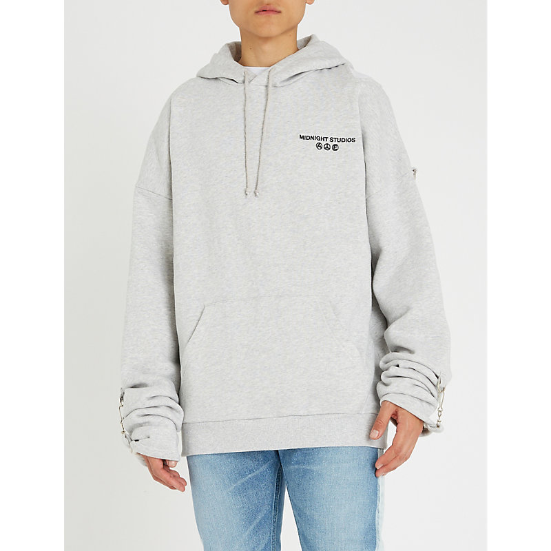 2353434b0 MIDNIGHT STUDIOS | Buckle-Embellished Cotton-Jersey Hoody | Goxip