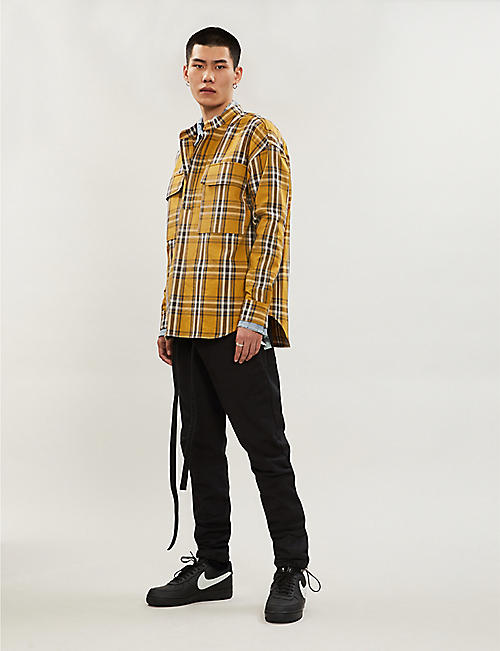 FEAR OF GOD Sixth Collection checked oversized cotton shirt