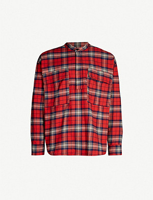 FEAR OF GOD Checked regular-fit brushed-cotton shirt