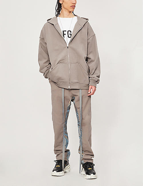 FEAR OF GOD Reflective-panel cotton-jersey jogging bottoms