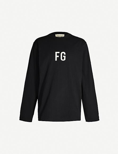 67544f41f FEAR OF GOD Sixth Collection logo-print cotton-jersey sweatshirt