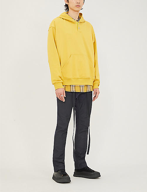 FEAR OF GOD Henley oversized cotton-jersey hoody