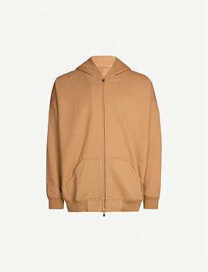 FEAR OF GOD Long-sleeved zipped cotton-jersey hoody