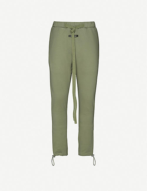 FEAR OF GOD: Skinny cotton-jersey jogging bottoms