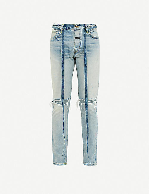 FEAR OF GOD Distressed slim-fit skinny jeans