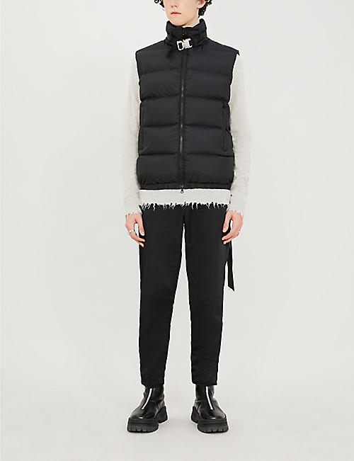 1017 ALYX 9SM Buckle-embellished shell-down gilet