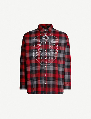 HACULLA Graphic-print checked relaxed-fit cotton-flannel shirt