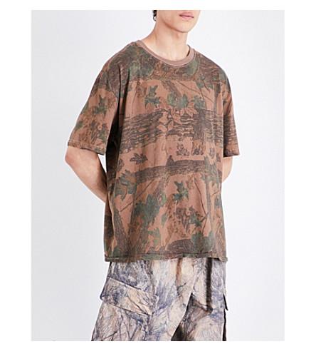 YEEZY Season 4 Forest-Print Cotton-Jersey T-Shirt, Cpn45