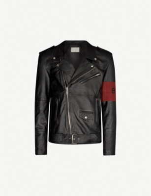 DEADWOOD Bloom armband leather biker jacket
