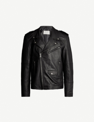 DEADWOOD Izzy star epaulette leather jacket