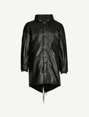 DEADWOOD Payne leather parka jacket