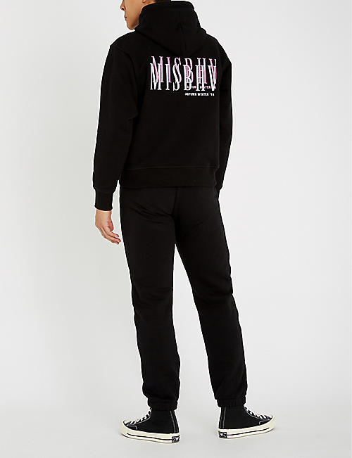 MISBHV Double logo cotton-blend hoody