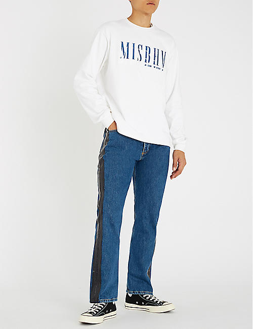 MISBHV Double logo cotton-jersey sweatshirt