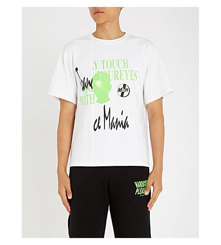 MISBHV Neon-Print Cotton-Jersey T-Shirt in White
